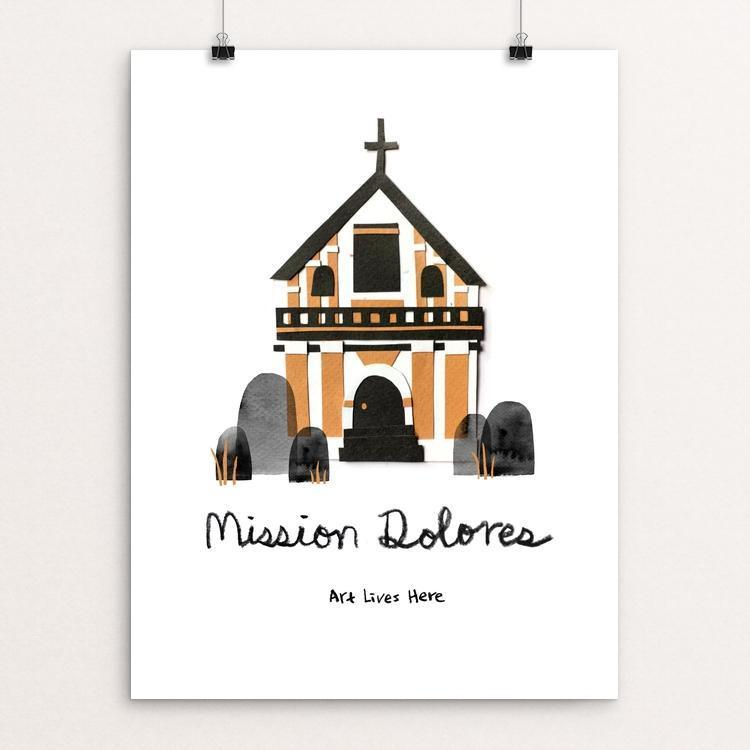 "Mission Dolores by Ivy Chang 12"" by 16"" Print / Unframed Print Art Lives Here"