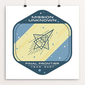 """Mission Unknown - Final Frontier"" by Justin Beaulieu 12"" by 12"" Print / Unframed Print Space Horizons"