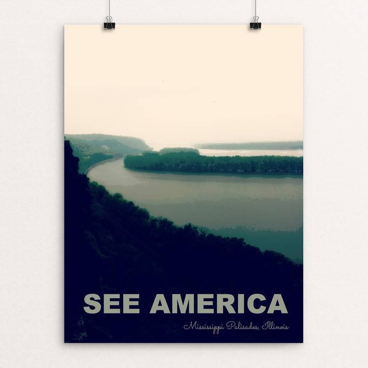 "Mississippi Palisades State Park by Jillian Chapman 12"" by 16"" Print / Unframed Print See America"