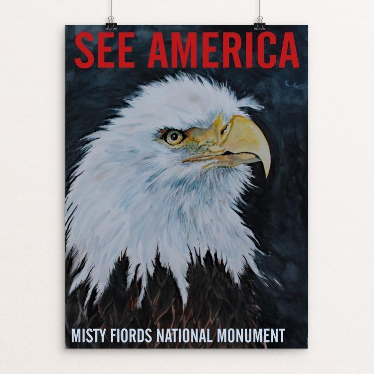 "Misty Fiords National Monument by Bruce and Scott Sink 12"" by 16"" Print / Unframed Print See America"