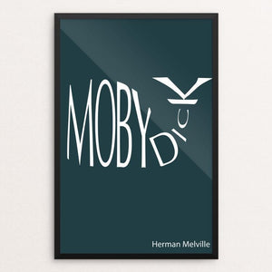 "Moby-Dick by Dustin Axline 12"" by 18"" Print / Framed Print Recovering the Classics"