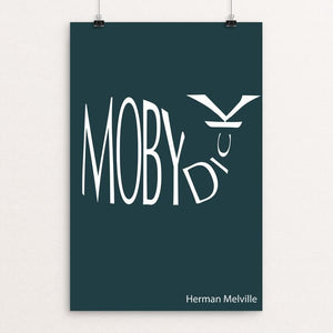 "Moby-Dick by Dustin Axline 12"" by 18"" Print / Unframed Print Recovering the Classics"