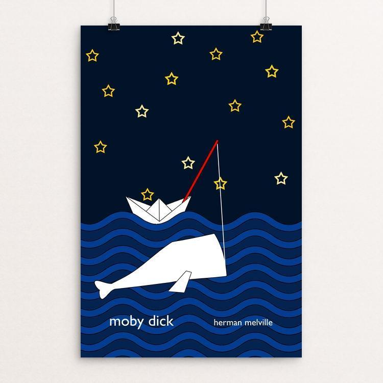 "Moby Dick by Kaylin Metchie 12"" by 18"" Print / Unframed Print Recovering the Classics"