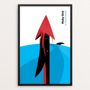 "Moby-Dick by Luis Prado 12"" by 18"" Print / Framed Print Recovering the Classics"