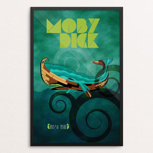 "Moby-Dick by Rade Design 12"" by 18"" Print / Framed Print Recovering the Classics"