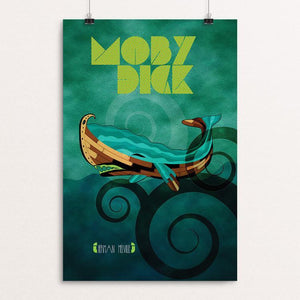 "Moby-Dick by Rade Design 12"" by 18"" Print / Unframed Print Recovering the Classics"