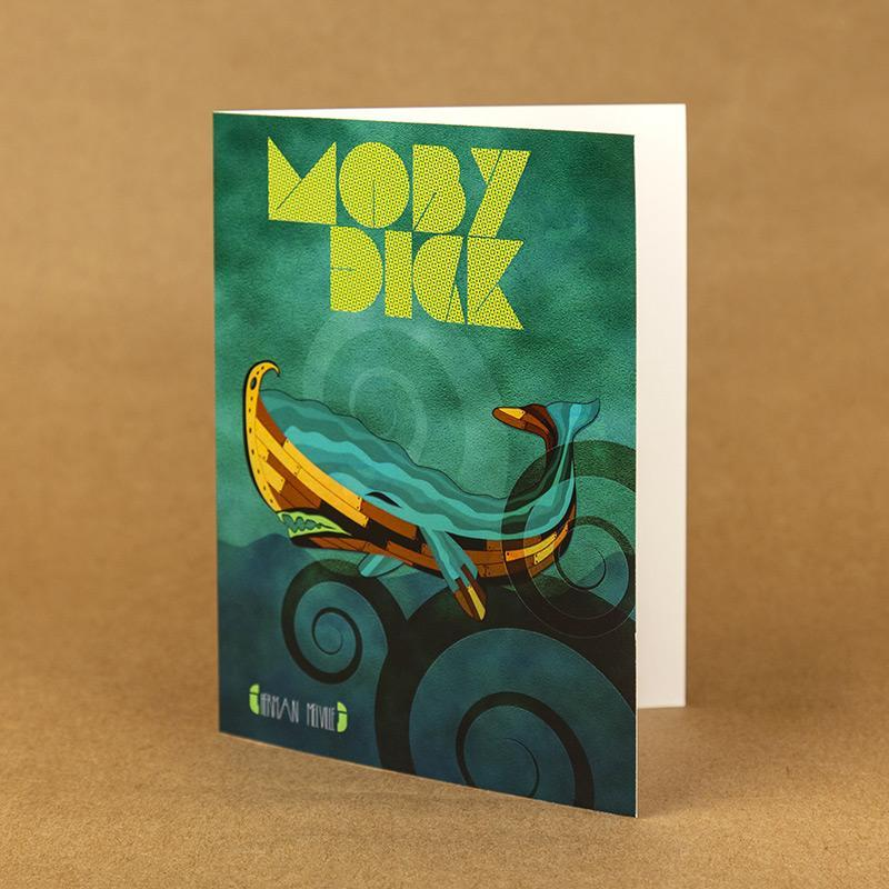 Moby-Dick Notecard by Rade Design 4.25x5.5 inch Notecard Recovering the Classics