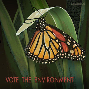 "Monarch Butterfly by Dan Gardiner 12"" by 12"" Print / Unframed Print Vote the Environment"