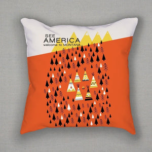 Montana Pillow by Victoria Fernandez Pillow See America