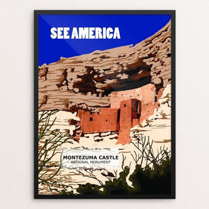 "Montezuma Castle National Monument by Catherine LaBarre 12"" by 16"" Print / Framed Print See America"