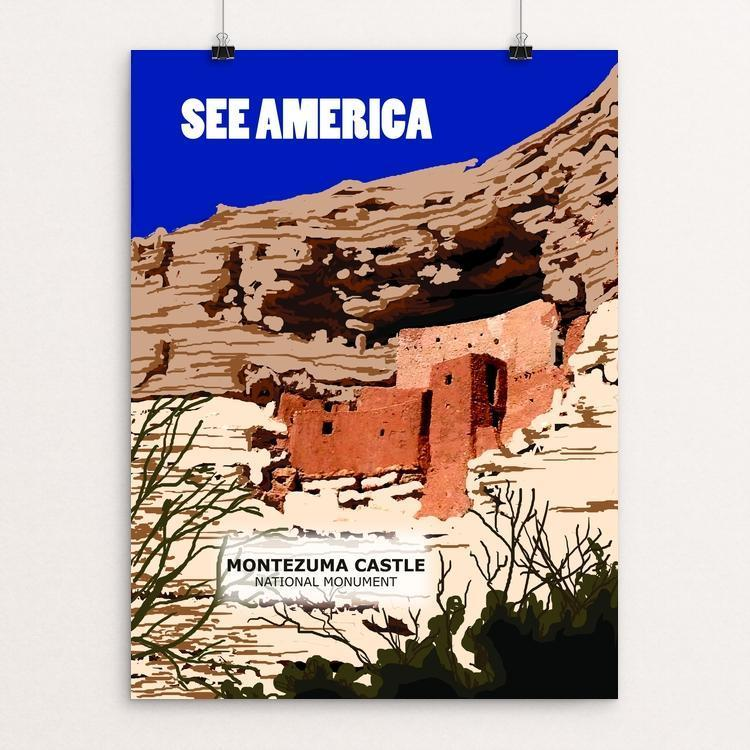 "Montezuma Castle National Monument by Catherine LaBarre 12"" by 16"" Print / Unframed Print See America"