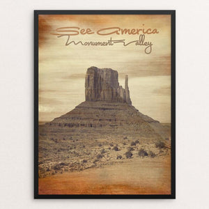 "Monument Valley 2 by Bryan Bromstrup 12"" by 16"" Print / Framed Print See America"