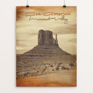 "Monument Valley 2 by Bryan Bromstrup 12"" by 16"" Print / Unframed Print See America"