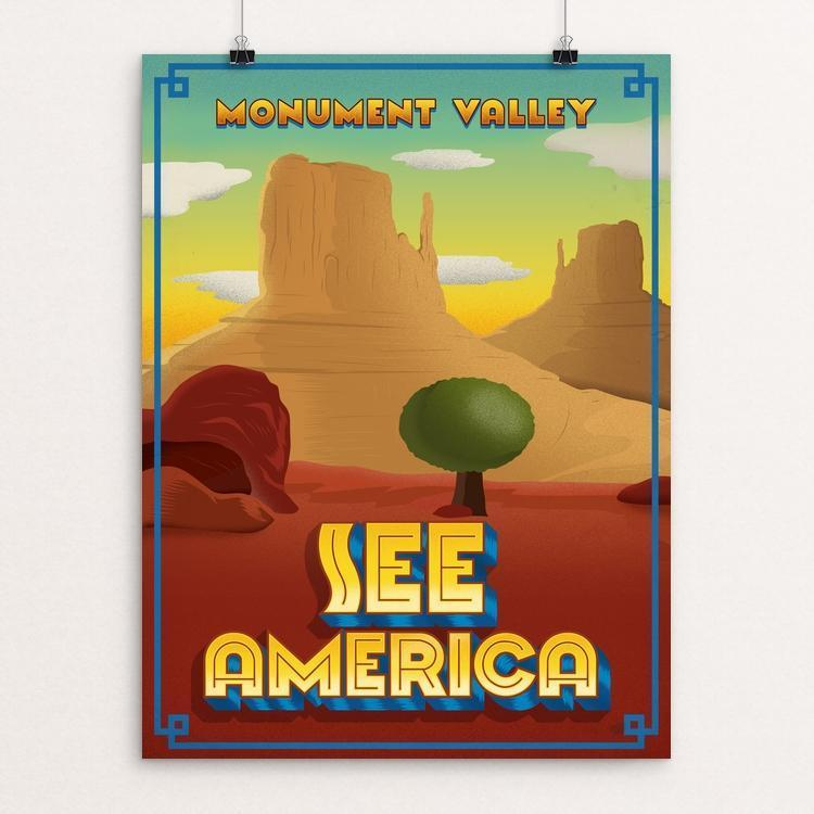 "Monument Valley by Roberlan Borges 12"" by 16"" Print / Unframed Print See America"