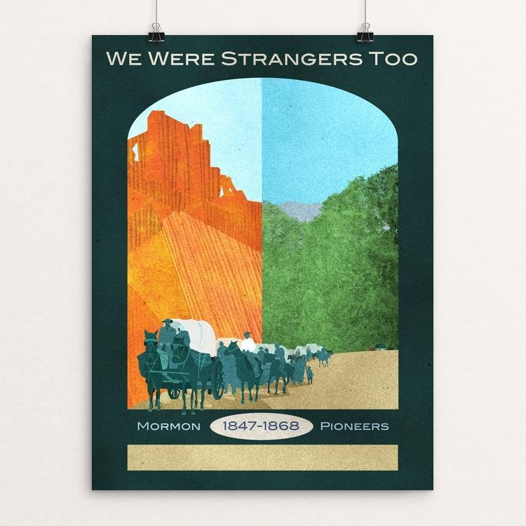"Mormon Overland Trail by J. Beth Jepson 12"" by 16"" Print / Unframed Print We Were Strangers Too"