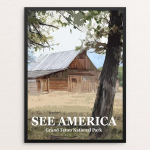 "Mormon Row, Grand Teton National Park by Bill Vitiello 12"" by 16"" Print / Framed Print See America"