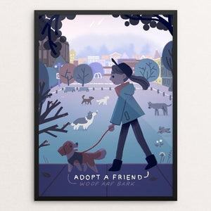 "Morning Walk by Olivia Huynh 12"" by 16"" Print / Framed Print Creative Action Network"