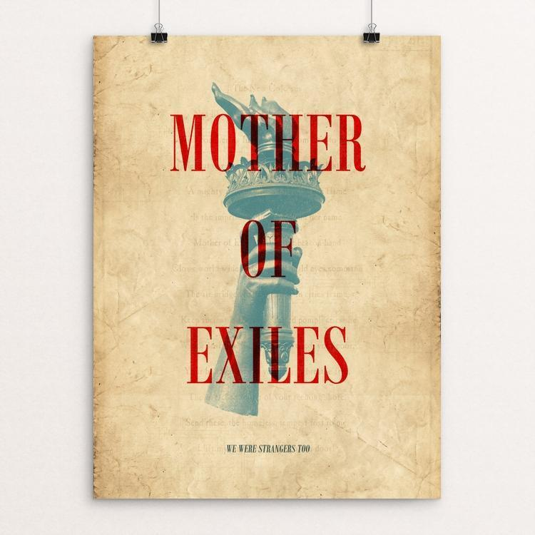"Mother of Exiles by Robert Williams 12"" by 16"" Print / Unframed Print We Were Strangers Too"