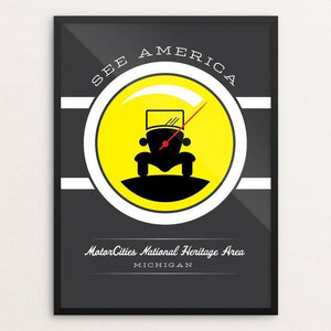 "MotorCities National Heritage Area by Brandon Kish 12"" by 16"" Print / Framed Print See America"