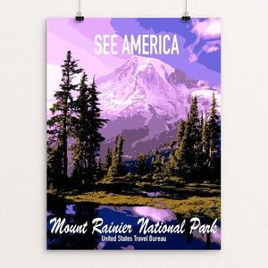 "Mount Rainier by Anthony Dominguez 18"" by 24"" Print / Unframed Print See America"