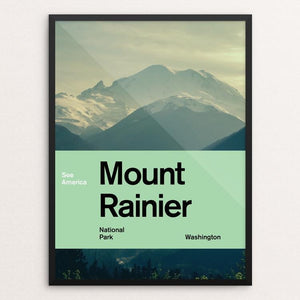 "Mount Rainier National Park by Brandon Kish 12"" by 16"" Print / Framed Print See America"