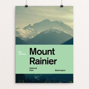 "Mount Rainier National Park by Brandon Kish 12"" by 16"" Print / Unframed Print See America"