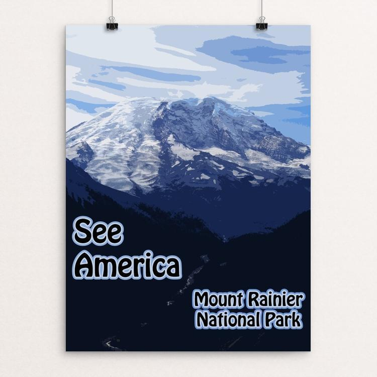 "Mount Rainier National Park by Eitan S. Kaplan 12"" by 16"" Print / Unframed Print See America"
