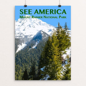 "Mount Rainier National Park by Zack Frank 12"" by 16"" Print / Unframed Print See America"