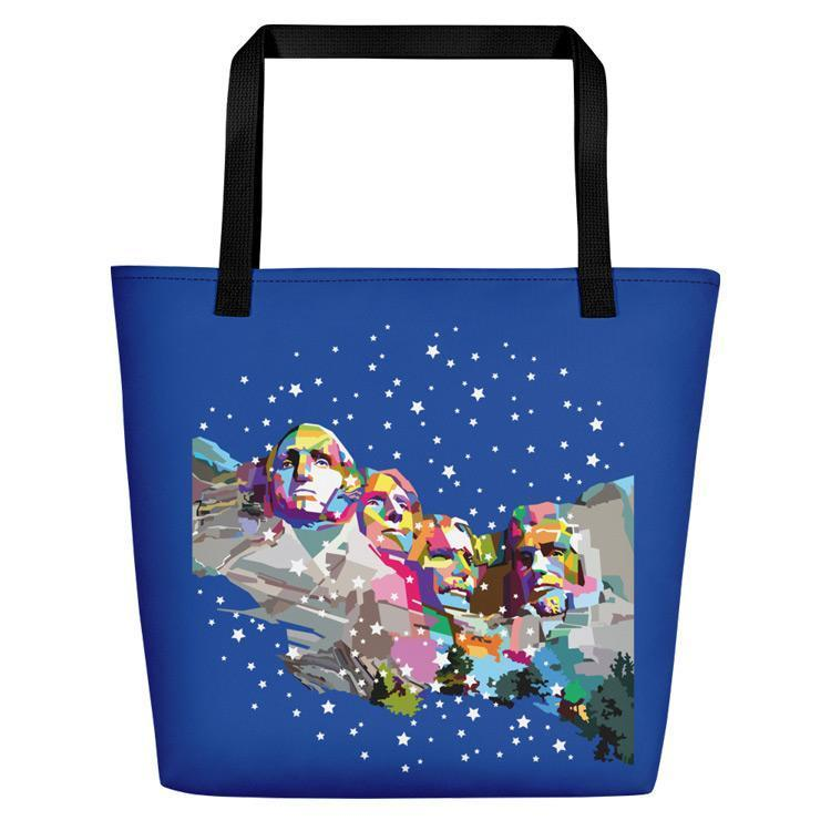 Mount Rushmore National Memorial Beach Bag by Wedha Abdul Rasyid Tote Bag See America