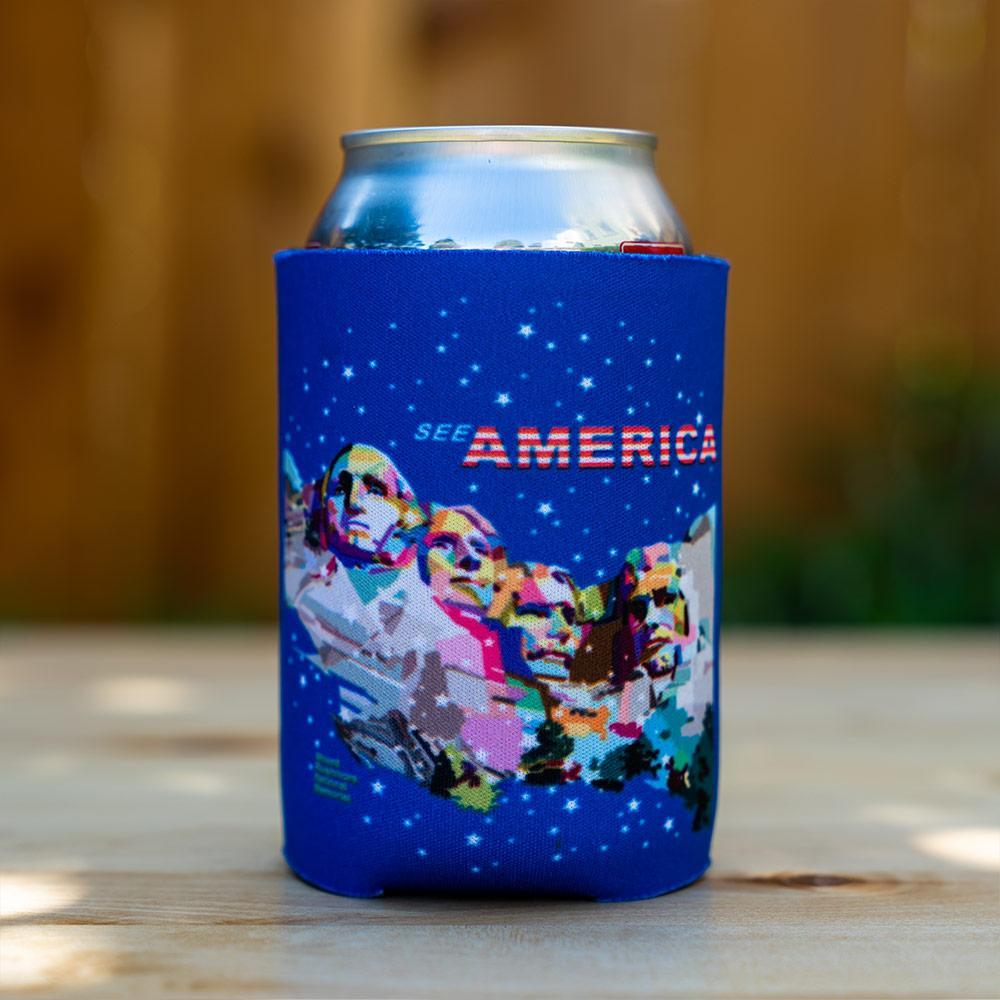 Mount Rushmore National Memorial Koozie by Wedha Abdul Rasyid Can Koozie Koozie See America