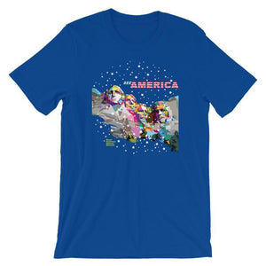 Mount Rushmore National Memorial Men's T-Shirt by Wedha Abdul Rasyid S / Blue T-Shirt See America