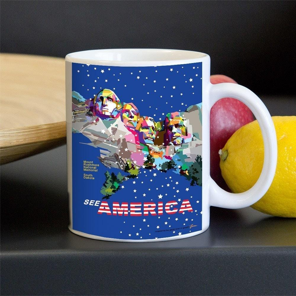 Mount Rushmore National Memorial Mug by Wedha Abdul Rasyid