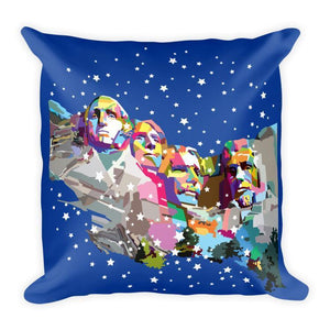 Mount Rushmore National Memorial Pillow by Wedha Abdul Rasyid Pillow See America