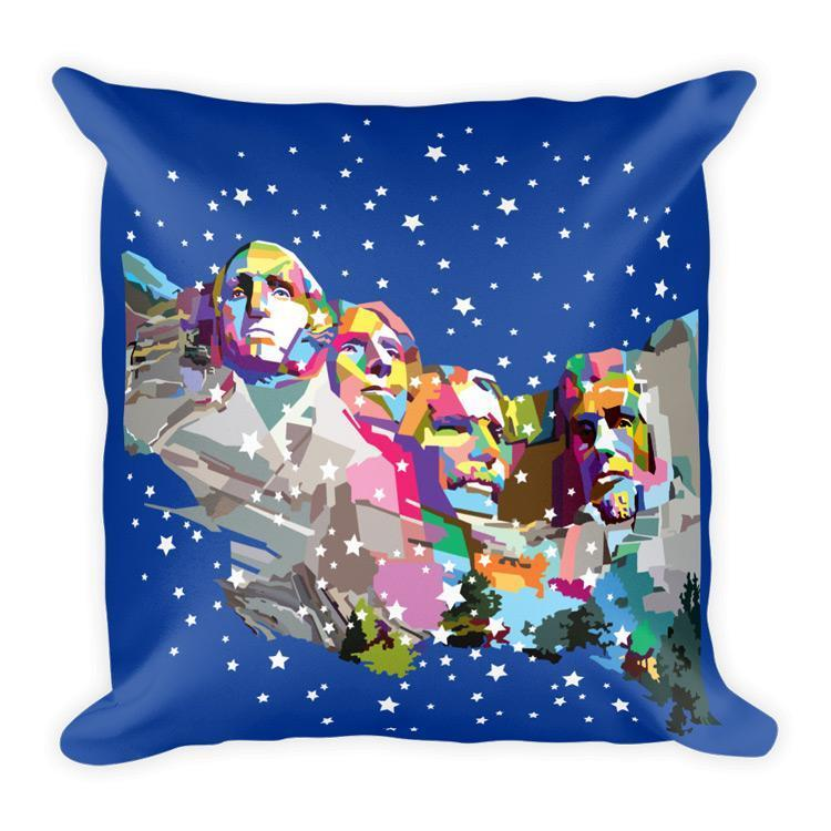 Mount Rushmore National Memorial Pillow by Wedha Abdul Rasyid