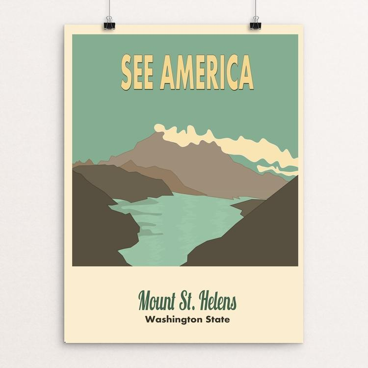 "Mount Saint Helens by Meredith Watson 12"" by 16"" Print / Unframed Print See America"