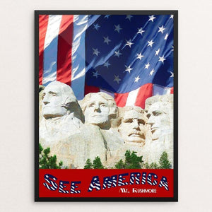 "Mt. Rushmore by Sheri Emerson 12"" by 16"" Print / Framed Print See America"