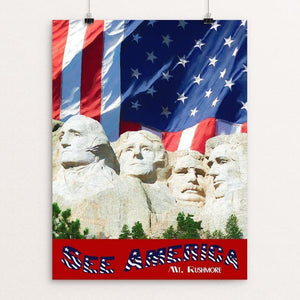 "Mt. Rushmore by Sheri Emerson 12"" by 16"" Print / Unframed Print See America"