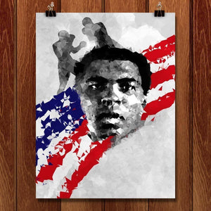 "Muhammad Ali by Vikram Nongmaithem 18"" by 24"" Print / Unframed Print Transcend - Moments in Sports that Changed the Game"