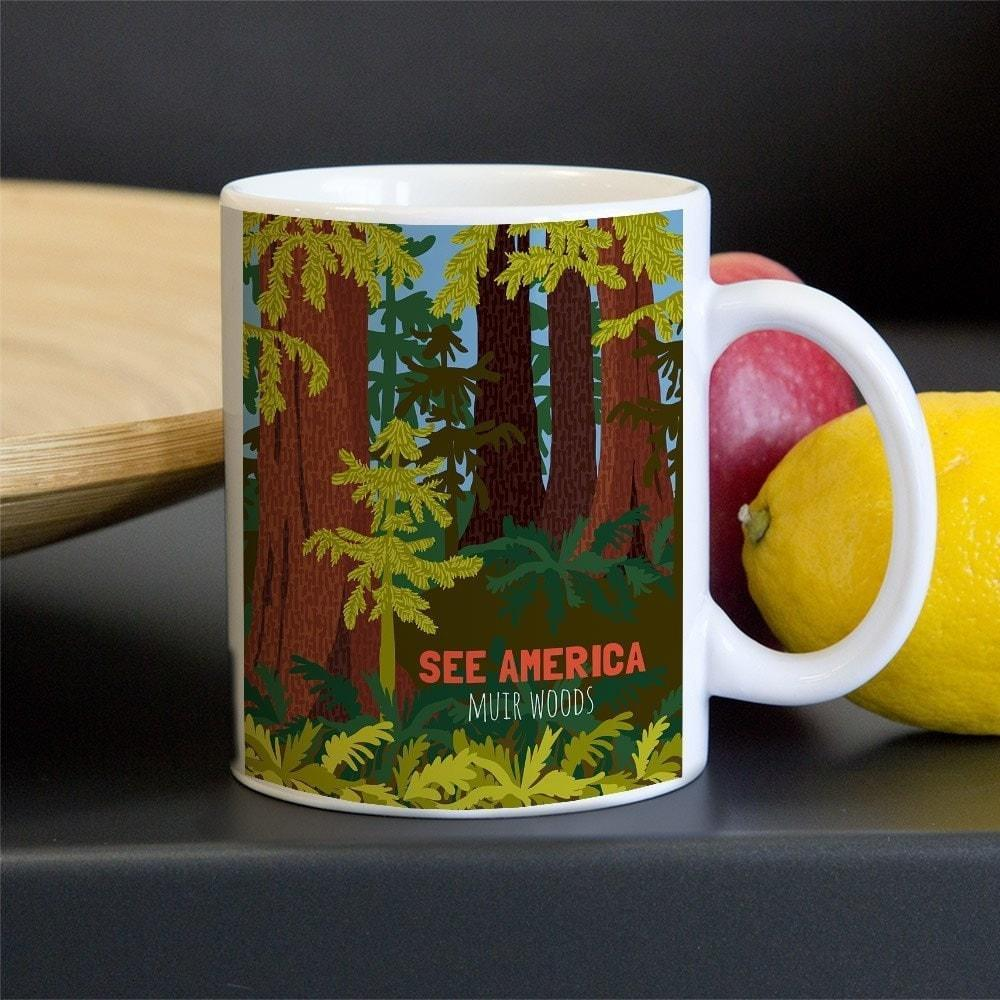 Muir Woods National Monument Mug by Shayna Roosevelt 11oz Mug See America
