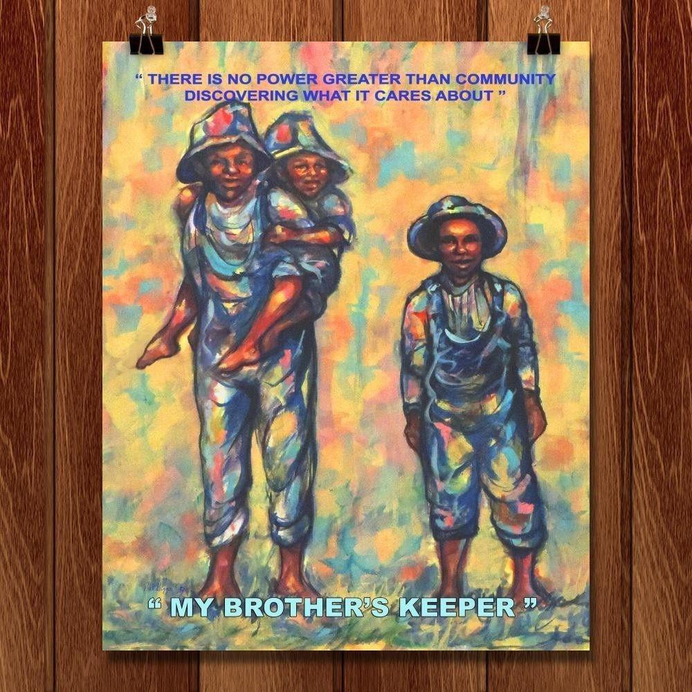 "My Brother's Keeper by Walter Griggs 16"" by 20"" Print / Unframed Print 1200 Posters"