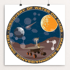 "NASA Mars Mission by Susanne Arens 12"" by 12"" Print / Unframed Print Space Horizons"