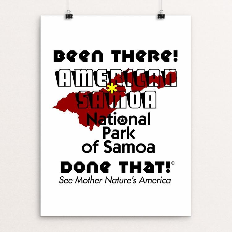 "National Park of Samoa by Mel Kline 12"" by 16"" Print / Unframed Print See America"