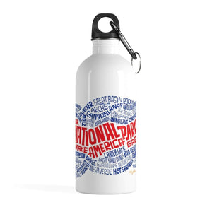 National Parks Stainless Steel Water Bottle by Eric Junker 14oz Water Bottle See America
