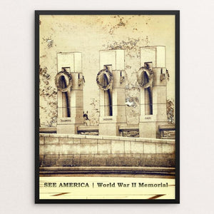 "National World War II Memorial by Bryan Bromstrup 12"" by 16"" Print / Framed Print See America"