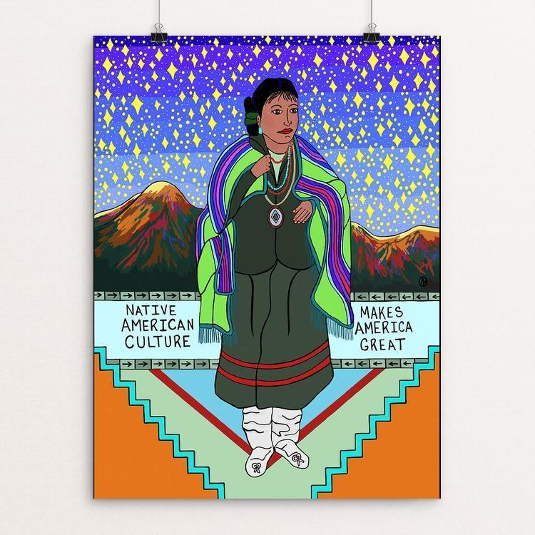 "Native American Culture by Luna3 12"" by 16"" Print / Unframed Print What Makes America Great"