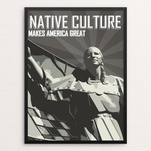 "Native Culture by Addison Miller 12"" by 16"" Print / Framed Print What Makes America Great"