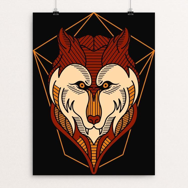 "Native Wolves by Deka Gumilar 12"" by 16"" Print / Unframed Print Join the Pack"