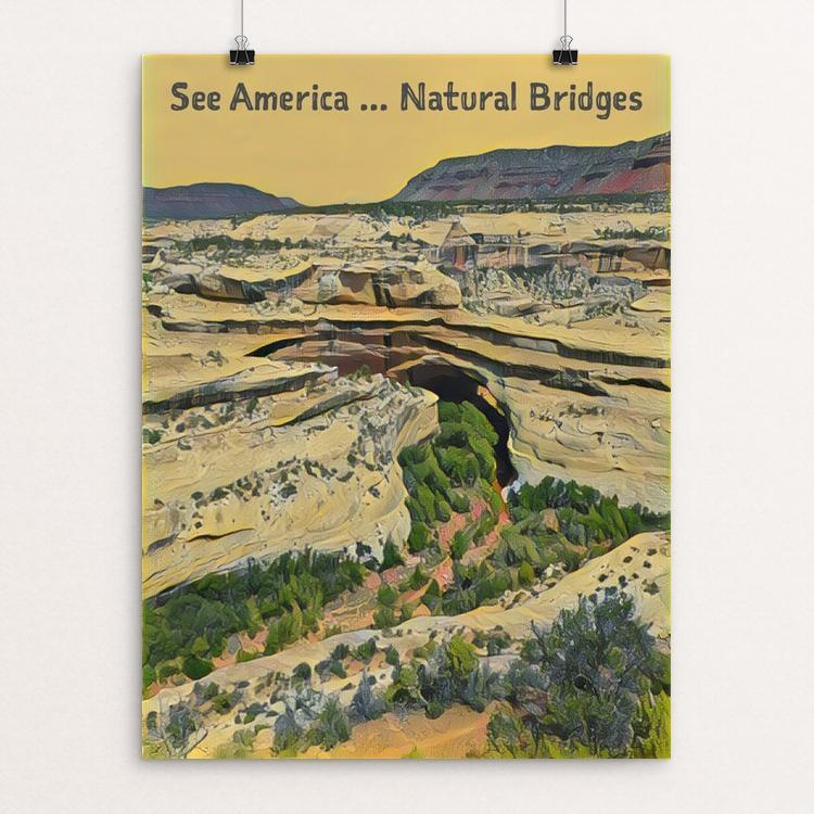 "Natural Bridges National Monument by Bryan Bromstrup 12"" by 16"" Print / Unframed Print See America"