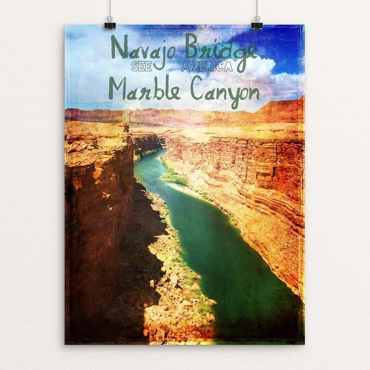 "Navajo Bridge Marble Canyon by Bryan Bromstrup 12"" by 16"" Print / Unframed Print See America"