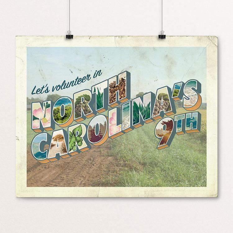 "NC-9 Swingin' Party by Liza Donovan 20"" by 16"" Print / Unframed Print Postcards from America's Swing Districts"